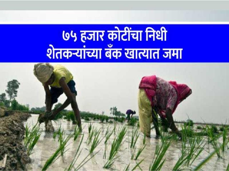 दीड वर्षात पीएम किसान योजनेच्या अतंर्गत  १७ हजार निधी बँकेत जमा