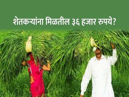 'या' योजनेतून शेतकऱ्यांना मिळतील ३६ हजार रुपये ? काय आहे ही योजना वाचा सविस्तर